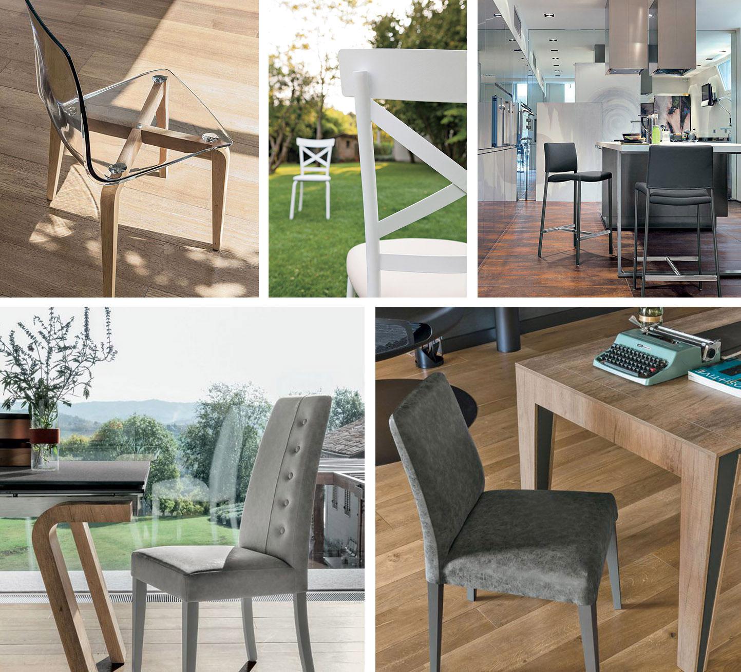 Alcune regole di base per scegliere le sedie di casa