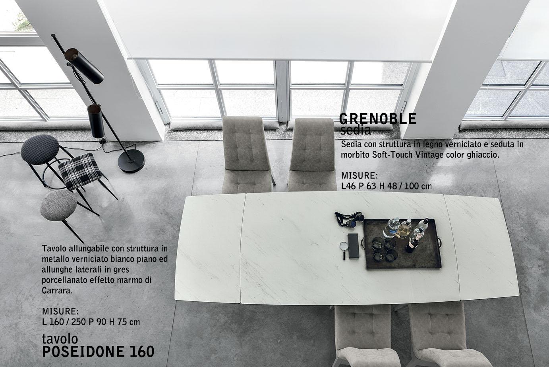 Tavolo In Marmo Bianco.Carrara Marble Porcelain Stoneware Top For Poseidone Table